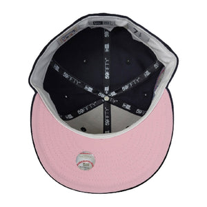 New York Yankees X New York Mets X Navy Blue 2000 Subway Series Pink Bottom New Era 59Fifty Fitted Hat