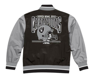 Oakland Raiders Mitchell & Ness Men's NFL Team History Warm up Jacket