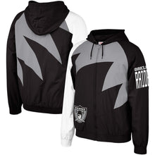 Load image into Gallery viewer, Oakland Raiders Mitchell & Ness Shark Tooth Full-Zip Jacket – Black