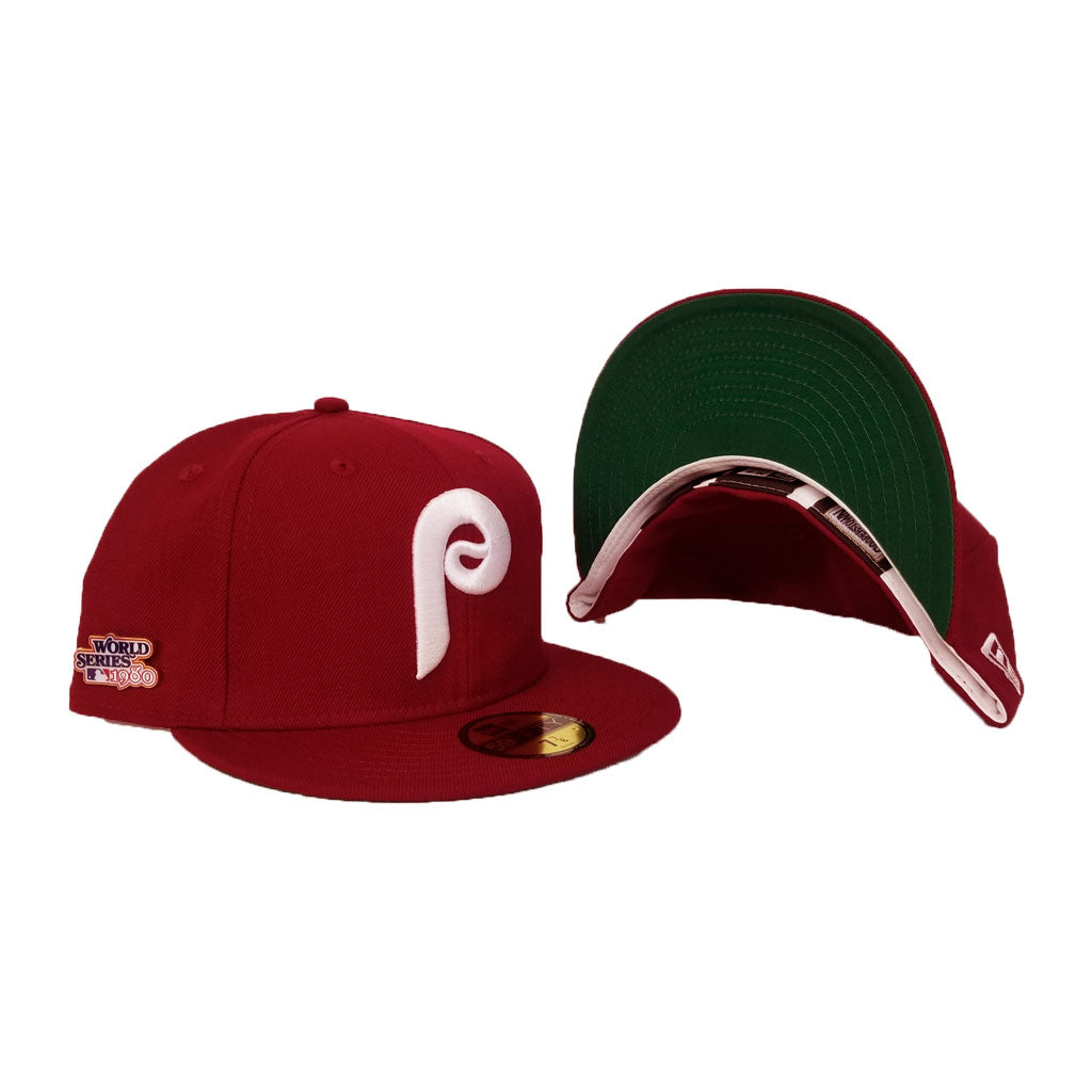 PHILADELPHIA PHILLIES 1980 WORLD SERIES METAL PIN NEW ERA 59FIFTY FITTED HAT
