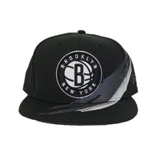 Load image into Gallery viewer, Paint Brushed Brooklyn Nets Black New Era 9Fifty Snapback hat