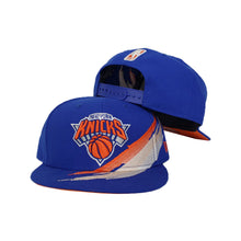 Load image into Gallery viewer, Paint Brushed New York Knicks Royal Blue New Era 9Fifty Snapback hat