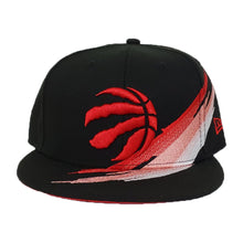 Load image into Gallery viewer, Paint Brushed Toronto Raptors Black New Era 9Fifty Snapback hat