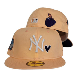 Peach Heart New York Yankees Purple Bottom 1999 World Series New Era 59Fifty Fitted