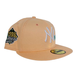 Peach New York Yankees Heart Mint Green Bottom 1999 World Series New Era 59Fifty Fitted