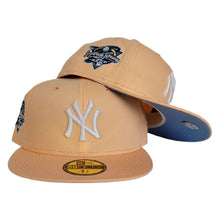 Load image into Gallery viewer, Peach New York Yankees Icy Blue Bottom 2000 World Series Side Patch New Era 59Fifty Fitted