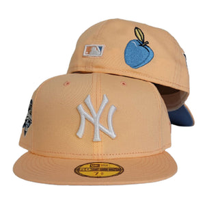 Peach New York Yankees Icy Blue Bottom 2000 World Series Side Patch New Era 59Fifty Fitted