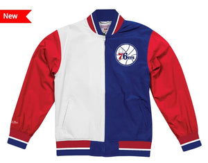 Philadelphia 76ers Mitchell & Ness NBA Men's Team History Warm up Jacket