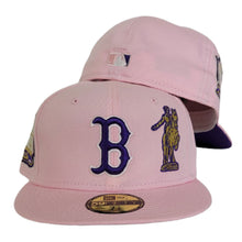 Load image into Gallery viewer, Pink New Era Boston Red Sox Purple Bottom 1999 All Star Game side Patch 59Fifty Fitted