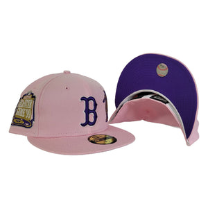 Pink New Era Boston Red Sox Purple Bottom 1999 All Star Game side Patch 59Fifty Fitted