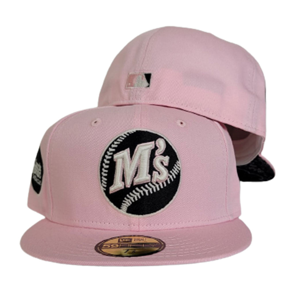 Pink Seattle Mariners Paisley Bottom Baseball Club Side Patch New Era 59Fifty Fitted