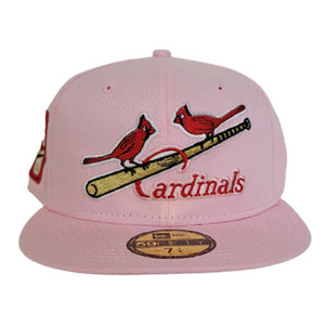 Pink St. Louis Cardinals Red Bottom 1931 World Series Side Patch New Era 59Fifty Fitted