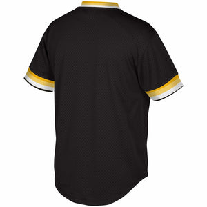 Pittsburgh Pirates Mitchell & Ness Mesh V-Neck Black Jersey