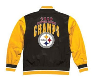 Pittsburgh Steelers Mitchell & Ness Men's NFL Team History Warm up Jacket