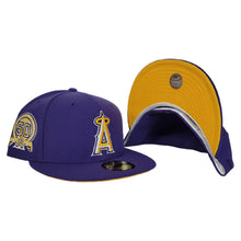 Load image into Gallery viewer, Purple Los Angeles Angels Yellow Bottom 50th Anniversary Patch New Era 59Fifty Fitted