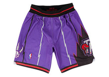 Load image into Gallery viewer, Purple Toronto Raptors Mitchell & Ness NBA Men's Authentic NBA Shorts