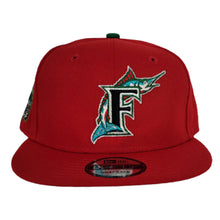 Load image into Gallery viewer, Red Florida Marlins Green Bottom 1993 Inaugural Side Patch New Era 9Fifty Snapback