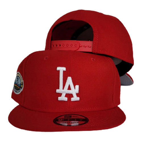 Red Los Angeles Dodgers Gray Bottom 50th Anniversary New Era 9Fifty Snapback