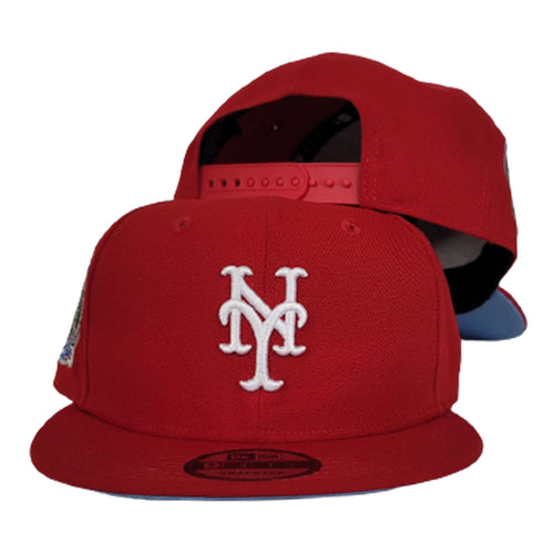 Red New Era New York Mets 2000 Subway Series Icy Blue Bottom 9Fifty Snapback