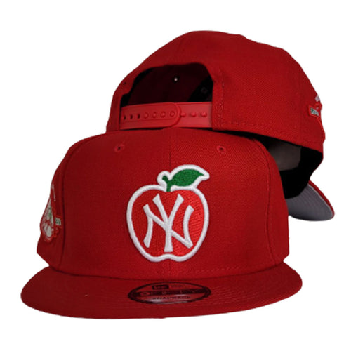 Red New York Yankees 100th Anniversary Big Apple Gray Bottom New Era 9Fifty Snapback