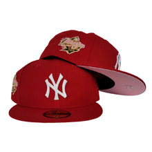 Load image into Gallery viewer, Red New York Yankees Pink Bottom 1998 World Series New Era 59Fifty Fitted