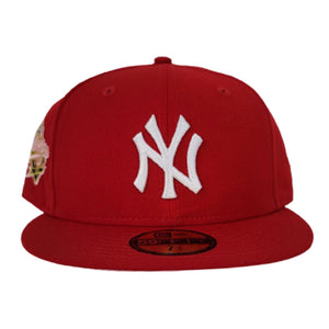 Red New York Yankees Pink Bottom 1998 World Series New Era 59Fifty Fitted