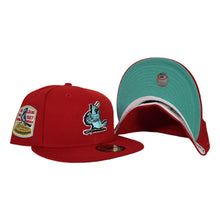 Load image into Gallery viewer, Red St. Louis Cardinals Mint Green Bottom 1967 World Series New Era 59Fifty Fitted