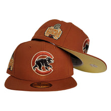 Load image into Gallery viewer, Rust Orange Chicago Cubs Soft Yellow Bottom 2016 World Series Side Patch New Era 59Fifty Fitted