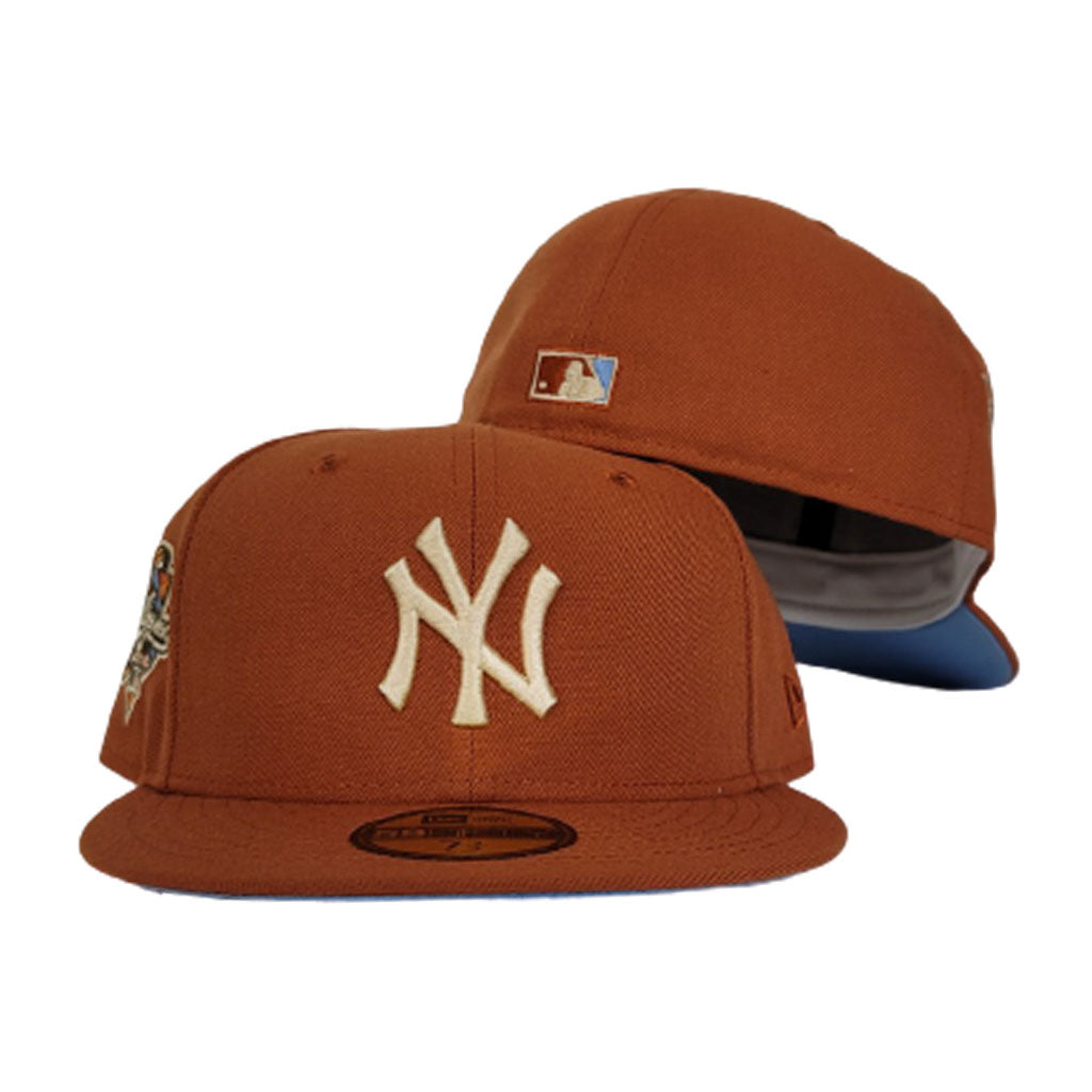Rust Orange New York Yankees Icy Blue Bottom 2000 World Series Patch New Era 59Fifty Fitted