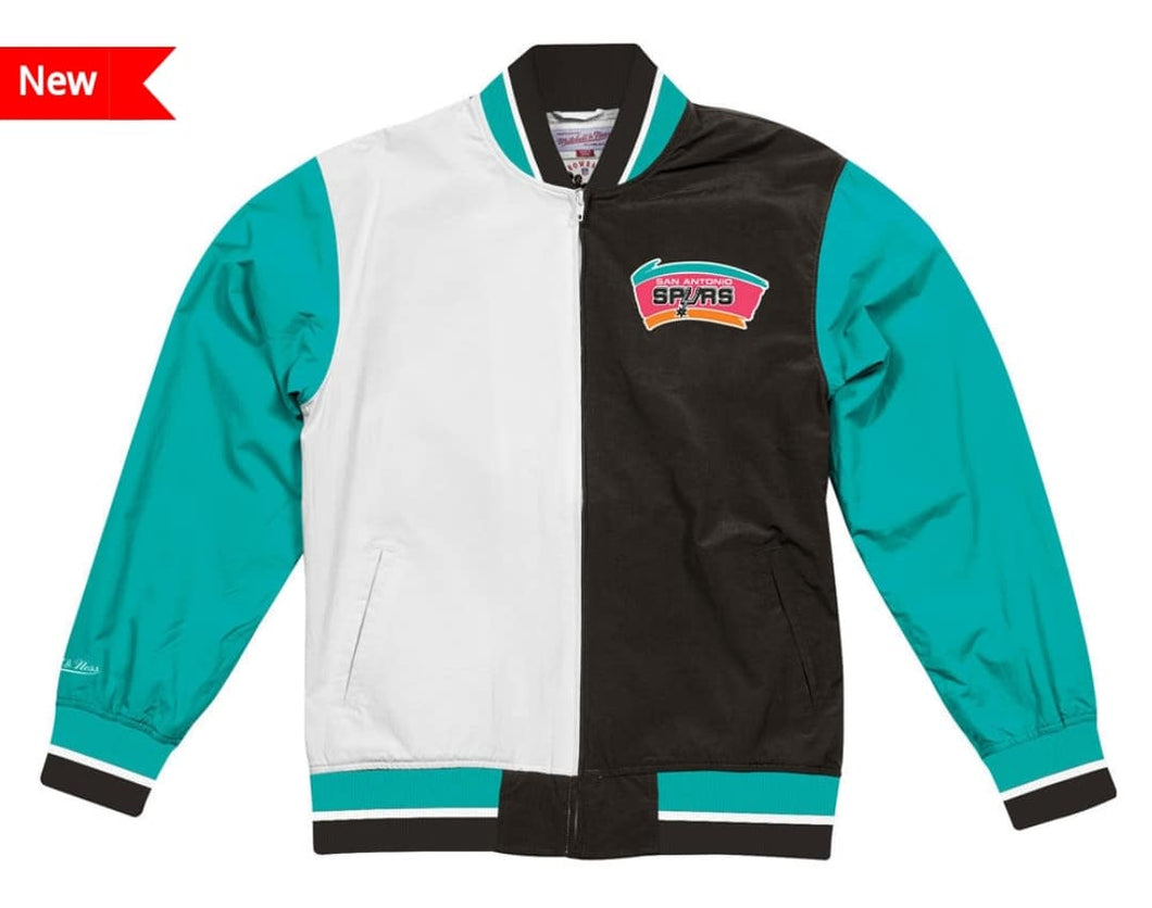 San Antonio Spurs Mitchell & Ness NBA Men's Team History Warm up Jacket