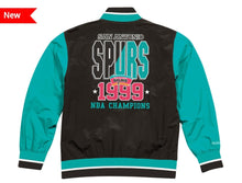 Load image into Gallery viewer, San Antonio Spurs Mitchell & Ness NBA Men's Team History Warm up Jacket
