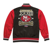 Load image into Gallery viewer, San Francisco 49ers Mitchell & Ness Men's NFL Team History Warm up Jacket