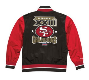 San Francisco 49ers Mitchell & Ness Men's NFL Team History Warm up Jacket