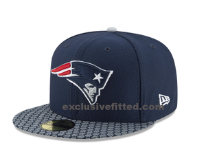 New England Patriots New Era Super Bowl LII 52 Sideline Patch 5950 Fitted Hat