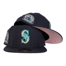 Load image into Gallery viewer, Seattle Mariners Navy Blue Pink Bottom 30th Anniversary New Era 59Fifty Fitted