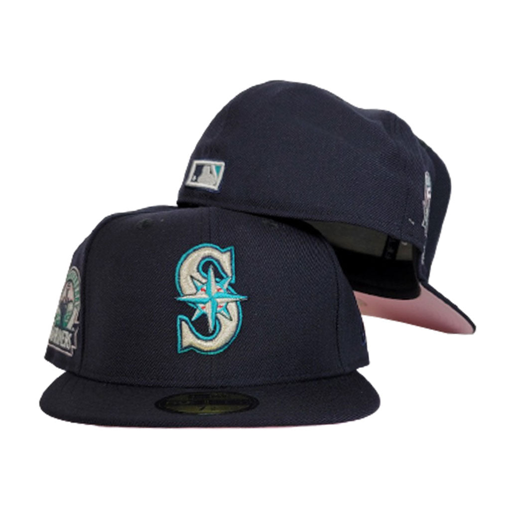 Seattle Mariners Navy Blue Pink Bottom 30th Anniversary New Era 59Fifty Fitted