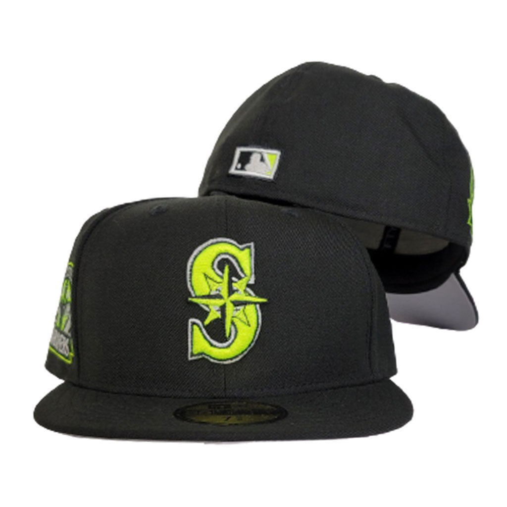 Seattle Marniers Black 30th Anniversary Side PAtch New Era 59Fifty Fitted Hat