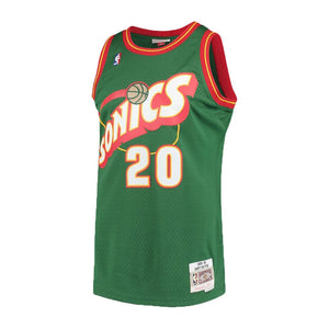Seattle SuperSonics Gary Payton Mitchell & Ness Green 1995-96 Hardwood Classics Swingman Jersey