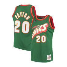 Load image into Gallery viewer, Seattle SuperSonics Gary Payton Mitchell & Ness Green 1995-96 Hardwood Classics Swingman Jersey