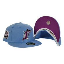Load image into Gallery viewer, Sky Blue Florida Marlins Grape Purple Bottom 1993 Inaugural Patch New Era 59Fifty Fitted