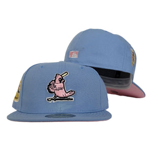 Sky Blue St. Louis Cardinals Pink Bottom 1967 World Series New Era 59Fifty Fitted