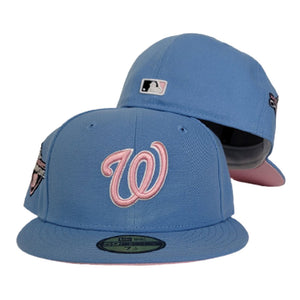 Sky Blue Washington Nationals Pink Bottom 2019 World Series Champions New Era 59Fifty Fitted