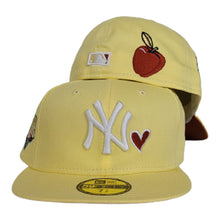 Load image into Gallery viewer, Soft Yellow New York Yankees Heart Rust Orange Bottom 2009 World Series New Era 59Fifty Fitted