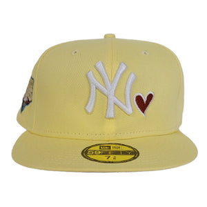 Soft Yellow New York Yankees Heart Rust Orange Bottom 2009 World Series New Era 59Fifty Fitted