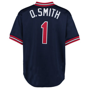 St. Louis Cardinals Ozzie Smith Mitchell & Ness Navy 1994 Authentic Mesh Batting Practice Jersey