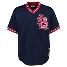 Load image into Gallery viewer, St. Louis Cardinals Ozzie Smith Mitchell & Ness Navy 1994 Authentic Mesh Batting Practice Jersey