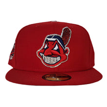 Load image into Gallery viewer, Swarovski Crystal Cleveland Indians Red Grey Bottom 1997 World Series New Era 59Fifty Fitted