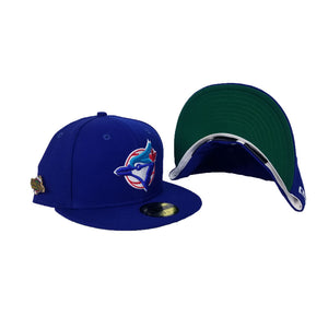 TORONTO BLUE JAYS 1992 WORLD SERIES METAL PIN NEW ERA 59FIFTY FITTED HAT