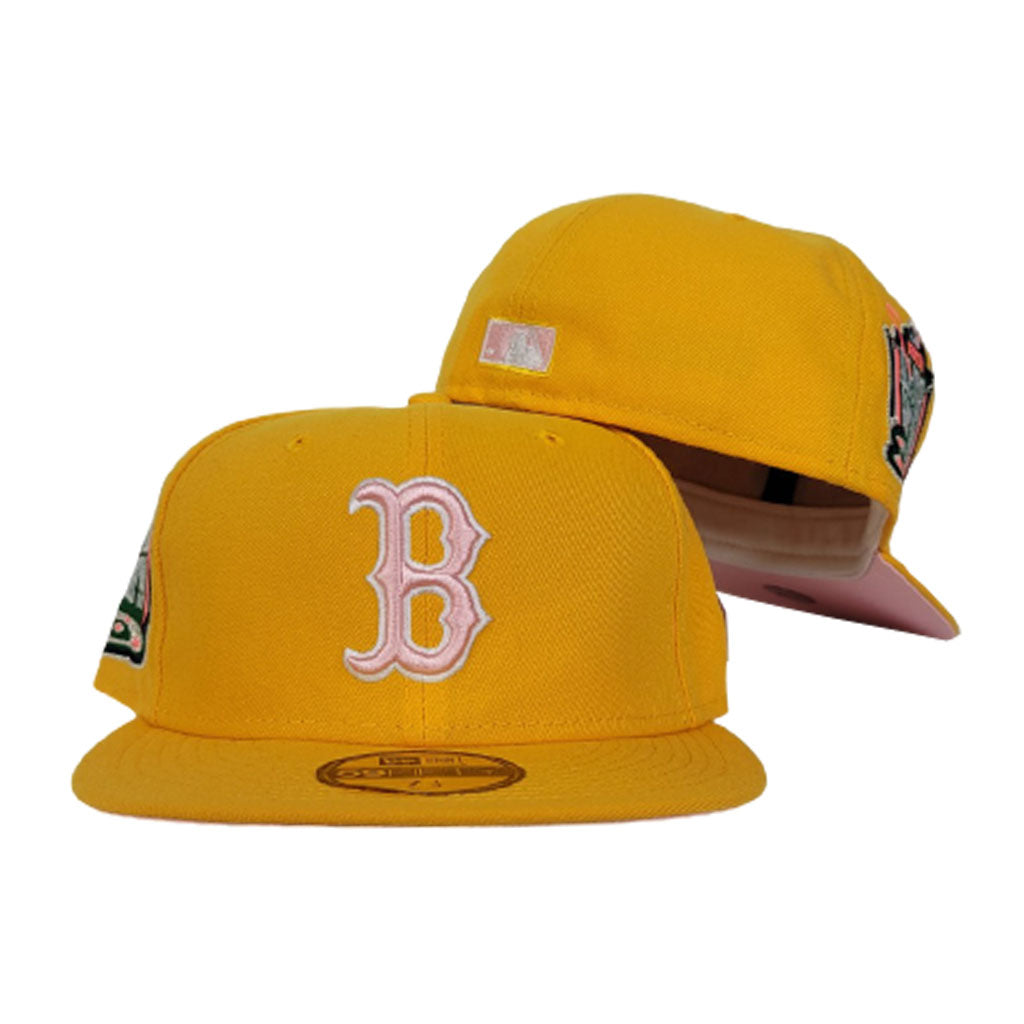 Taxi Yellow Boston Red Sox Pink Bottom 1999 All Star Game New Era 59Fifty Fitted