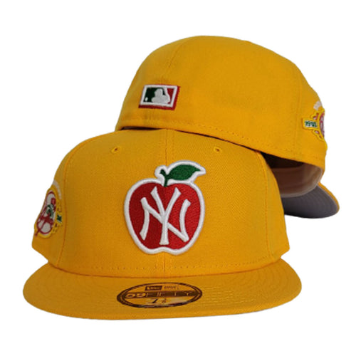 Taxi Yellow New York Yankees 100th Anniversary Big Apple Gray Bottom New Era 59Fifty Fitted
